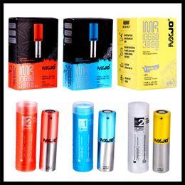 cajas de energía solar Rebajas Auténtica piel MXJO IMR 18650 IMR18650 Tipo 1 2 Rojo Azul Amarillo batería de litio 3500mAh 3500mAh 20A 35A de alto consumo de batería original