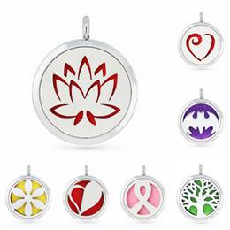 Canada avec 10 tampons 30mm engrenage arbre de rose lotus coeur magnétique médaillon de parfum Huile essentielle aromathérapie diffuseur pendant Offre