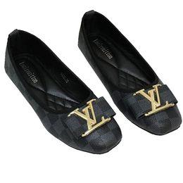 scarpe da ginnastica scarpe da ginnastica Sconti Mocassini eleganti da donna Mocassini Ballerine in vera pelle di lusso con fibbie in metallo Ballerine Donna Scarpe da guida di grandi dimensioni Q-4