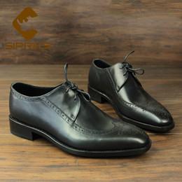 Sipriks Rétro Classique Brogue Chaussures Pour Hommes De Luxe Italien Bespoke Goodyear Chaussures Welted Wingtip Robe Hommes Costume Formal smoking ? partir de fabricateur