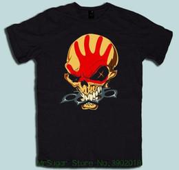Maglietta del cranio dei ragazzi neri online-Limitata Five 5 Finger Death Punch Skull Logo Black Mens Tshirt S - 5xl T-shirt per uomo / ragazzo manica corta Cool Tees