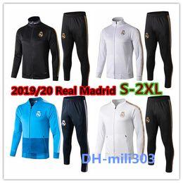 Chaqueta de fútbol del chándal del Real Madrid 2019/20 chándal con cremallera completa 2019 2020 real madrid Maillot De Foot ISCO survêtement Chandal desde fabricantes