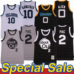 Filmschießen online-Turnier Shooting 2 Pac Villanova Wildcats Jersey 10 Donte Divininzo Alien Space Jam Tune Squad Monstars Film Basketball Jersey