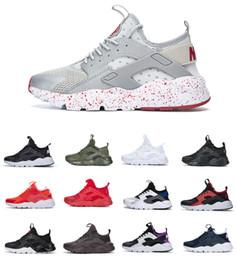 Diseños 2019 Air Huarache 4 Run Men Calzado deportivo Chaussures Huarache Ultra Triple Mujer Negro Blanco Zapatillas Ultra Breathe Tn Shoes desde fabricantes