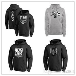 precios baratos chaquetas Rebajas Sudaderas con capucha de Los Angeles Kings Fanatics para hombres, negro, gris ceniza Sudaderas deportivas, manga larga, al aire libre, logotipos cosidos, precios baratos, chaquetas