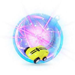 Brinquedos adultos girando on-line-Girar Brinquedo Mini Carro de Alta Velocidade 360 Rotating Stunt Stress Relief Car USB Recarregue Carros de Brinquedo com Luz LED para Crianças Adultos Meninos Girle Idéia Do Presente