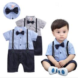 Baby Boy 1st Birthday Outfit.Gentleman British Style Newborn Baby Boy Clothes Romper Short Sleeves 1st Birthday Boy Outfits Suit 3 18 Months Baby Boy Dresses