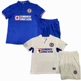 54a6a460d 2019 2020 Cruz Azul Kids Soccer Jersey 19 20 home away football boys shirts