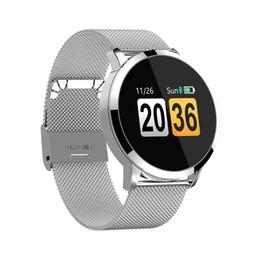 2019 monitor di mele Q8 Smart Watch OLED Schermo a colori Smartwatch da donna Fitness Tracker Monitor di frequenza cardiaca per cellulare Android XS monitor di mele economici