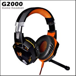 Pc Oyunu Mikrofon LED Işık ile G2000 Kulaklık Aşırı Kulak Gaming Kulaklık Surround Stereo Bilgisayar Stereo Gaming Kulaklık nereden