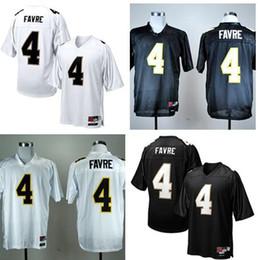 Brett Favre 4 Mens College Southern Mississippi Golden Eagles Uomo Jersey Maglie da calcio NCAA Maglie da college bianco nero da