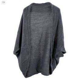 2019 dreiviertel-ärmel-strickoberteil Mode der neuen Frauen Batwing Top Knit Sleeve Kapwolljacke Dreiviertel Strick-Tropfen-Verschiffen gute Qualität günstig dreiviertel-ärmel-strickoberteil