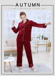 Raglan manica seta online-WOMen Sleepwear Maniche lunghe Pantaloni lunghi tailleur pigiameria in seta per uomo pigiama set per uomo M L XL ordine misto