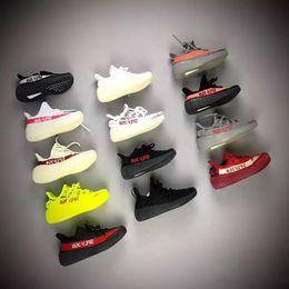 2019 Kanye West Infant Clay 350 Toddler Kids Zapatillas de running Estático GID Chaussure de sport pour enfant boys girls Casual Trainers desde fabricantes