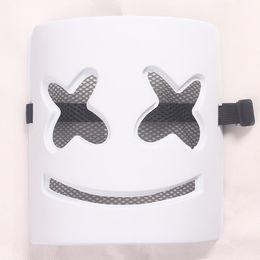 Материалы для масок онлайн-DJ marshmello mask Экологически чистый материал ПВХ маски 18 * 21 * 7CM косплей аксессуары для девочек парни мужчины женщины