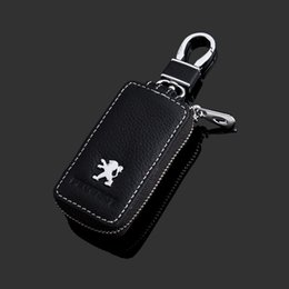 mercedes car schlüsselersatz Rabatt Pu leder autoschlüssel fall abdeckung schlüsselhalter brieftasche für peugeot 508/5008/308/3008/4008/408/207/206 autoschlüsselanhänger abdeckung
