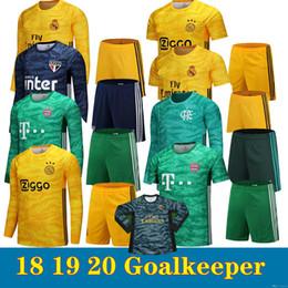 2019 20 todo el portero del equipo real madrid amarillo # 1 NAVAS ajax amarillo # 24 ONANA Bayern verde # 1 portero neuer camisetas de fútbol de manga larga desde fabricantes