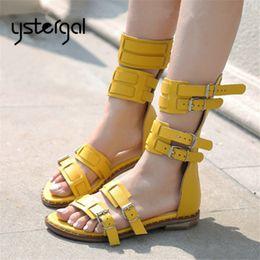 amarillas Sandalias de descuento2019 Tacones Amarillos Zapatos En OXuiwkPZT