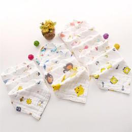 Bottone bibo online-New Bavaglino neonato Asciugamano bavaglino salviette stropicciato a doppio strato in cotone a otto strati con tovagliolo salvietta T8G011