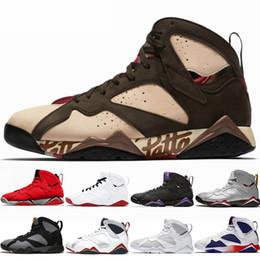 2019 scarpe 7e di lepre 2018 Nuovi uomini 7 7s scarpe da basket Fadeaway GMP Pure Money Olympic Hare Bordeaux Mens Trainer sport Sneakers US 8-13 sconti scarpe 7e di lepre