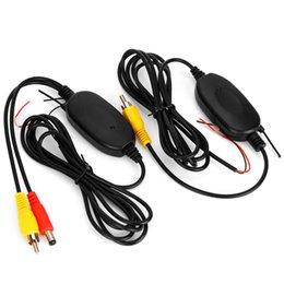 a8 hud Rebajas 2.4 Ghz Wireless visión trasera cámara de vídeo RCA transmisor receptor Kit para el coche retrovisor del revés del monitor de la cámara de copia de seguridad Cam