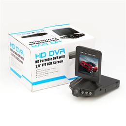 Sistema de grabadora de video online-H198 versión nocturna Grabador de video en el tablero Cámara 2.5 '' Car Dash cams Sistema de cámara grabadora DVR para auto