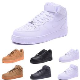new product 677d5 cc56c nike air force 1 one 10 colori 2018 la qualità superiore NUOVI uomini moda  le scarpe casual bianco alto superiore nero amore unisex uno 1 spedizione  ...