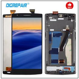 iphone 4s schwarz Rabatt A0001 LCD für OnePlus One Plus 1+ A0001 LCD-Anzeigen-Screen-Digitizer mit Rahmen Montage Reparatur-Teil für One plus 1 Bildschirm