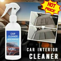 2019 canhão de mão Lavagem Auto spray Interior de carro Detailer superfícies Cleaner brilha polonês para Painel Window Seat Tecido tapete sujo de poeira removedor de óleo