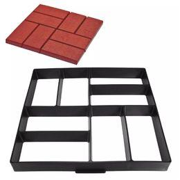 Stampo di stampo percorso in plastica fai da te stampo manualmente Stampi in mattoni di cemento Gli strumenti ausiliari in pietra per la decorazione del giardino 40 * 40 * 4cm da