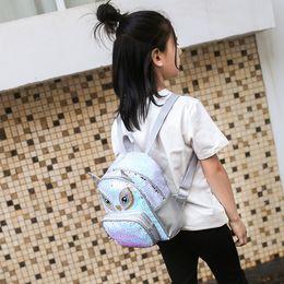 Sacchetto della cartella del bambino dei zainhi dello spalla online-Kids Kindergarten School Bags Backpacks Baby Student Kids Girls Cartoon Sequin School Backpack Satchel Travel Shoulder Bag #4gh
