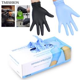 100 teile / schachtel Einweg Tattoo Latex Handschuhe Wasserdicht ungiftig S / m / l Fingerschutz Tattoo Nagel Zubehör Liefert Schwarz / blau SH190729 von Fabrikanten