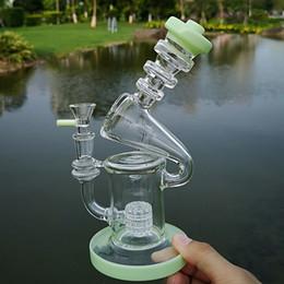 Tubo di acqua dhl online-Birdcage Perc Bong di vetro Reciclatore Tubi di acqua di vetro Bong unico Matrix Perc Olio Dab Rigs con ciotola DHL XL-1941
