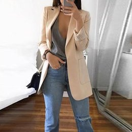 professional clothing style Coupons - Women's coat fashion new style lapel OL commuter professional women's suit patch pocket uniform jacket clothing
