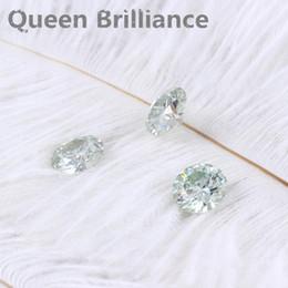 Taglio brillante rotondo Moissanite 1 carato 6,5 mm Leggero test blu Laboratorio positivo Diamante sviluppato Gemme sciolte Pietre Taglio eccellente VVS1 da perline in pietra cubica fornitori