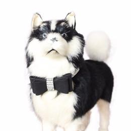 Exquisite regolabile Bowknot Diamond Dog Puppy Collari Pet #XJSY da