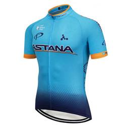 Ciclismo astana online-Ropa Ciclismo Pro Team ASTANA Ciclismo jersey camisa de ciclo Hombres Verano bicicleta de manga corta Trajes bicicleta de secado rápido Ropa deportiva Y071603