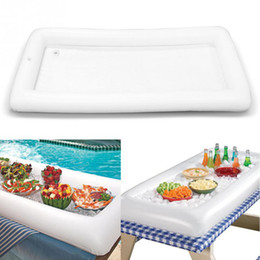 Mesa inflável Servindo para churrasco Bar partido Buffet Ice Cooler Picnic Tabela prato de Salada Drink plat jardim Camping armazenamento Ao Ar Livre ZZA219 de