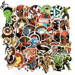 Etiquetas do palhaço on-line-NOVA 50 pçs / set Marvel DC super hero adesivo batman coringa capitão de ferro superman de alta qualidade à prova d 'água PVC adesivos Para Mala