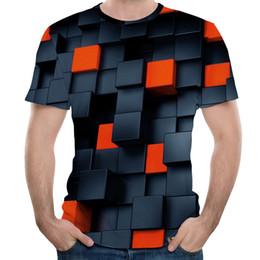 Canada Mode Hommes Streetwear Chemises Splash-ink Chemise d'impression 3D Modis à manches courtes T-shirts oversize T-shirts Expédié sous 24 heures cheap splashed ink Offre