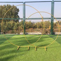 Grandi dimensioni Bridal Large Iron Round Ring Arches Frame Background Decorazione Porta fiore Cornice Decorazione di nozze Puntelli da