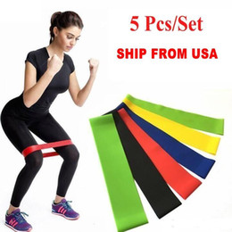 widerstandsbandschlaufe crossfit Rabatt US-Stock-Tension Resistance Band Pilates Yoga-Widerstand-Bänder Gummi Fitness-Schleife Seil Stretch Bands Crossfit Elastic Turnhalle Trainingsübung