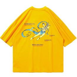 bellezza della maglietta degli uomini Sconti T-Shirt Hip Hop Violence and Beauty Godness 2019 Uomo Streetwear T-shirt Harajuku 100 T-Shirt in cotone Estate Manica corta Top Tees