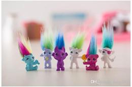 capitão cracas Desconto 4 cm Trolls Lápis Topper A Boa Sorte Trolls Boneca Filme Roles Figuras de Ação Modelo PVC Brinquedos