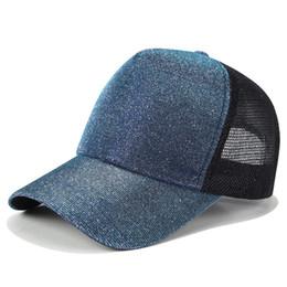 cappelli fluorescenti cappelli Sconti Berretti da baseball fluorescenti in paillettes, cappellino americano con cappuccio regolabile in flash europeo, cappellino hip hop moda unisex LLA424