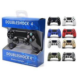 jogo com joystick Desconto Controladores de jogos sem fio ps4 joysticks para ps4 controlador jogo acessórios gamepad para sony play station 4 com embalagem de varejo