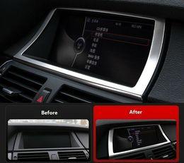 Steel Inner Dashboard Navigation Frame Cover Trim 1pcs For BMW X5 E70 2007-2013