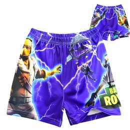 5ddd857ab6e06 Game Fortnite boys Swimwear Swim Trunks Shorts Cartoon pattern swimming  trunk boy Stretch Beach Swimsuit Cosplay costume Board Shorts