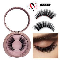 2019 ciglia di capelli umani strisce 2019 Nuovo 5 Ciglia Finte Magnetiche 9 stili Magnete Ciglia Finte Eye Makeup Kit Ciglia Estensione 5 paia