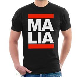 Argentina Malia Runner Dmc Logo Camiseta de hombre T Mierdas Impresión Manga corta Casual O-cuello Algodón cheap runner shorts men Suministro